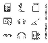 gadget icons. set of 9 editable ... | Shutterstock .eps vector #1006888522