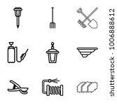 garden icons. set of 9 editable ...   Shutterstock .eps vector #1006888612