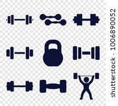 barbell icons. set of 9... | Shutterstock .eps vector #1006890052