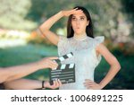 funny actress auditioning for... | Shutterstock . vector #1006891225