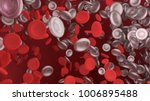 red blood cell in blood vessel...   Shutterstock . vector #1006895488