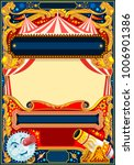 circus vector theme. vintage... | Shutterstock .eps vector #1006901386