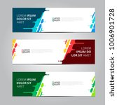 vector abstract design banner... | Shutterstock .eps vector #1006901728