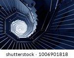 spiral staircase in dark | Shutterstock . vector #1006901818