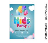 kids party flyer or banner... | Shutterstock .eps vector #1006902862