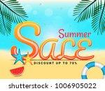 summer sale banner design. | Shutterstock .eps vector #1006905022