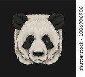 head of panda bear  face of... | Shutterstock .eps vector #1006906906
