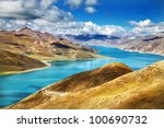 Winding River Lake In Mountain...
