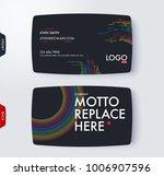business card template. vector... | Shutterstock .eps vector #1006907596