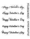 happy valentines day set of... | Shutterstock .eps vector #1006908916