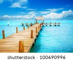 vacations and tourism concept.... | Shutterstock . vector #100690996