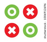flat o and x round shape icons  ...   Shutterstock .eps vector #1006912696
