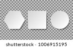 set of white blank buttons on a ... | Shutterstock .eps vector #1006915195
