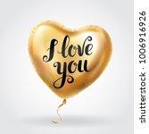 gold heart balloon i love you | Shutterstock . vector #1006916926