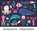 vector set of underwater... | Shutterstock .eps vector #1006918336