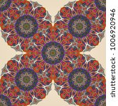 ornate floral seamless texture  ... | Shutterstock .eps vector #1006920946