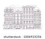 monochrome europe city street... | Shutterstock .eps vector #1006923256
