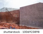 the construction of a retaining ... | Shutterstock . vector #1006923898
