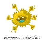 cute cheerful virus  bacteria... | Shutterstock .eps vector #1006926022