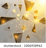 black realistic triangles and... | Shutterstock .eps vector #1006928962