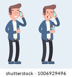 man is talking on the phone... | Shutterstock .eps vector #1006929496