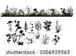 vector isolated silhouette... | Shutterstock .eps vector #1006929565