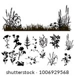 isolated silhouette grass and...   Shutterstock .eps vector #1006929568