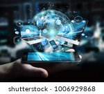 tech devices connected to each... | Shutterstock . vector #1006929868