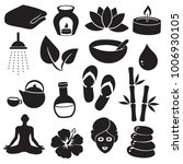 spa  wellness vector icon set. | Shutterstock .eps vector #1006930105