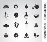 spa  wellness vector icon set. | Shutterstock .eps vector #1006930108