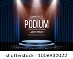 podium with curtain on bright... | Shutterstock .eps vector #1006932022