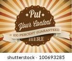 old brown vector round retro... | Shutterstock .eps vector #100693285