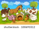 Cartoon Illustration Of Rural...