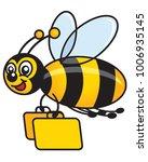 Vector Bumblebee Flying Around...