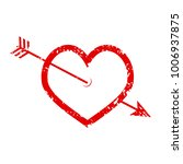 heart and arrow rubber stamp ... | Shutterstock .eps vector #1006937875