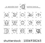 set of wearable technology icons | Shutterstock .eps vector #1006938265