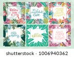 set of tropical cards with... | Shutterstock .eps vector #1006940362
