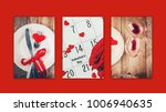 collage of love and romance....   Shutterstock . vector #1006940635