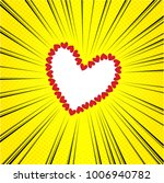 heart comic background | Shutterstock .eps vector #1006940782