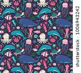 vector seamless pattern with... | Shutterstock .eps vector #1006943242