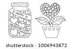 cute lines art design of hearts ... | Shutterstock .eps vector #1006943872