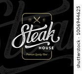 steak house emblem with crossed ... | Shutterstock .eps vector #1006944625