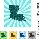 map of louisiana | Shutterstock .eps vector #1006946818