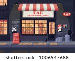old city street  night... | Shutterstock .eps vector #1006947688