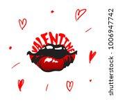 sexy lips. valentine.  vector... | Shutterstock .eps vector #1006947742