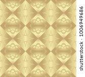 gold metallic regular seamless...   Shutterstock . vector #1006949686