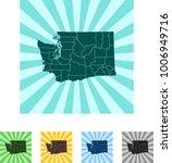 map of washington | Shutterstock .eps vector #1006949716
