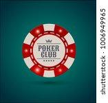vector red white casino poker... | Shutterstock .eps vector #1006949965