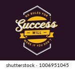 no rules for success will work... | Shutterstock .eps vector #1006951045