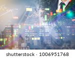 stock market digital graph... | Shutterstock . vector #1006951768